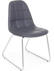 Pikowane krzesło JOL w kolorze ciemnoszarym pochodzące z najnowszego katalogu Bizzotto.<br />Krzesło posiada metalowy, chromowany stelaż zakończony...
