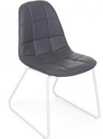 Pikowane krzesło M w kolorze ciemnoszarym pochodzące z najnowszego katalogu Bizzotto.<br />Krzesło posiada metalowy stelaż zakończony płozami...