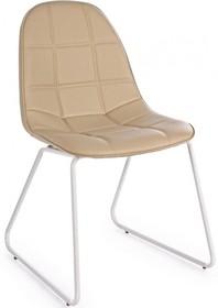 Pikowane krzesło M w kolorze beżowym pochodzące z najnowszego katalogu Bizzotto.<br />Krzesło posiada metalowy stelaż zakończony płozami...