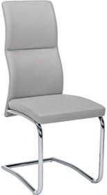 Stylowe krzesło THEL z wysokim oparciem w kolorze szarym pochodzące z najnowszego katalogu Bizzotto.<br />Krzesło posiada metalowy, chromowany stelaż...