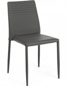 Tapicerowane krzesło F w kolorze antracyt pochodzące z najnowszego katalogu Bizzotto.<br />Krzesło posiada metalową strukturę, w całości...