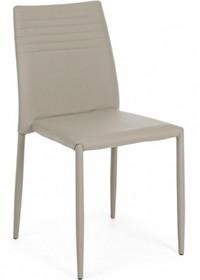 Tapicerowane krzesło F w kolorze beżowym pochodzące z najnowszego katalogu Bizzotto.<br />Krzesło posiada metalową strukturę, w całości...