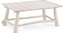 Klasyczny, prostokątny stolik SAH. Mebel pochodzi z najnowszego katalogu Bizzotto.<br />Stolik posiada strukturę z bielonych gałęzi drzewa tekowego z...