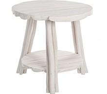 Klasyczny, okrągły stolik SAH. Mebel pochodzi z najnowszego katalogu Bizzotto.<br />Stolik posiada strukturę z bielonych gałęzi drzewa tekowego z...