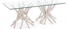 Oryginalny, prostokątny stolik o wymiarach blatu 110x60 cm SAH. Mebel pochodzi z najnowszego katalogu Bizzotto.<br />Ława posiada strukturę z...