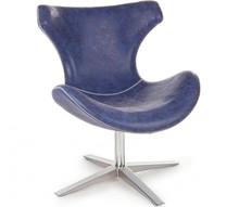 Fotel GIL - niebieski