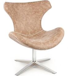 Fotel posiada metalową strukturę. Siedzisko wraz z oparciem tapicerowane jest ekoskórą z ozdobnym szwem.<br />Produkt do montażu.<br...