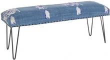 Stylowa ławka MAL w kolorze niebieskim pochodząca z najnowszego katalogu Bizzotto.<br /><br />Stylowa ławka ze strukturą z drewna...