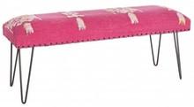 Stylowa ławka MAL w kolorze czerwonym pochodząca z najnowszego katalogu Bizzotto.<br /><br />Stylowa ławka ze strukturą z drewna sheesham...