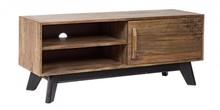 Stylowa szafka RTV EMI pochodząca z najnowszego katalogu Bizzotto.<br />Szafka posiada jedne drzwi oraz dwie półki. Tylna ścianka posiada...