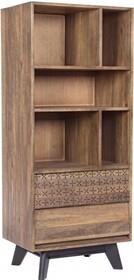 Stylowy regał EMI pochodzący z najnowszego katalogu Bizzotto.<br />Regał posiada dwie szuflady oraz pięć półek.<br />Struktura z...