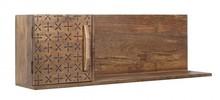 Półka wisząca z jednymi drzwiami z lewej strony EMI pochodząca z najnowszego katalogu Bizzotto.<br />Struktura z drewna z drzewa mango....