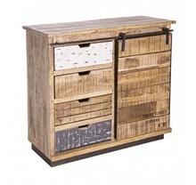 Stylizowana, oryginalna komoda TUD pochodzi z najnowszego katalogu Bizzotto.<br />Komoda posiada jedne, przesuwne drzwi oraz cztery szuflady.<br...
