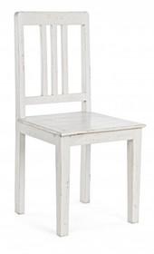 Klasyczne, drewniane krzesło AN WHITE z najnowszego katalogu Bizzotto.<br />Mebel wykonany z solidnego drewna mango. Wykończony jest nachodzącymi na...