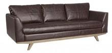 Sofa trzyosobowa JOHN - brązowy