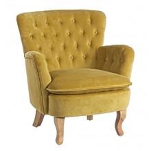 Fotel ORL - musztardowy
