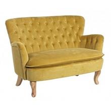 Sofa dwuosobowa ORL - musztardowy