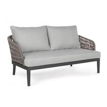 Sofa dwuosobowa PELI - antracytowy