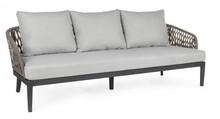 Sofa ogrodowa 3-4 osobowa PELI - antracyt