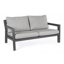 Sofa ogrodowa Q CHARCOAL - szary/czarny