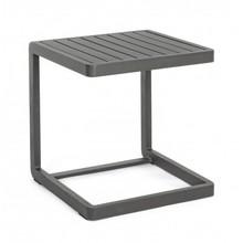 Ogrodowy stolik KON 40x40 cm w kolorze węgla drzewnego (charcoal).<br />Rama oraz blat wykonany z aluminium malowana proszkiem...