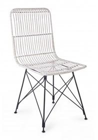 Krzesło ogrodowe LUC - biały