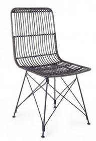 Krzesło ogrodowe LUC - czarny