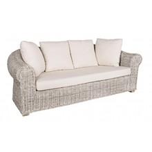 Trzyosobowa sofa ogrodowa COB z poduszkami.<br />Sofa posiada strukturę z rattanu, plecionkę kubu z wykończeniem nitrocelulozowym. Nóżki z...