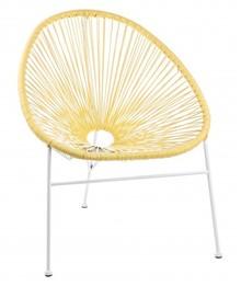 Krzesło ogrodowe DORO - żółty