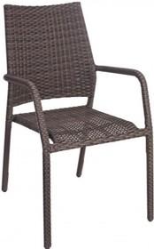 Krzesło ogrodowe RON z podłokietnikami. Krzesło występuje tylko w kolorze przedstawionym na zdjęciu.<br />Rama stalowa, proszkowana. Pokryta...