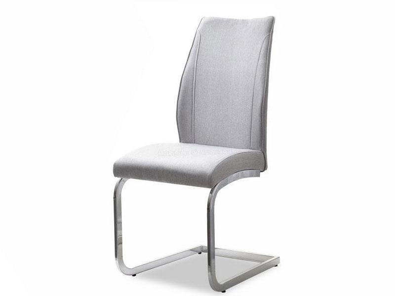 Eleganckie Krzesło Tapicerowane Do Jadalni Ferrara Szary Chrom Mpt