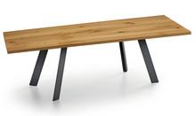 Stół z drewnianym blatem ALEXANDER 200x106