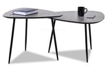 Zestaw 2 stolików kawowych ROSIN XL+S - surowy beton