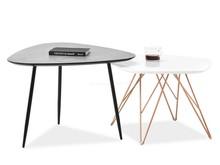 Komplet 2 stolików PENTA S+ROSIN XL - biały/beton