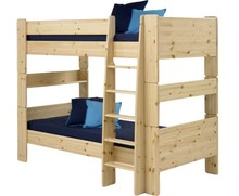 Łóżko piętrowe podwójne STEENS FOR KIDS - sosna lakierowana