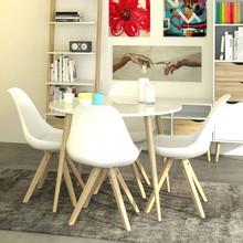 Stół okrągły OSLO 100 - biały/dąb sonoma