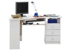 Narożne biurko HOME OFFICE STEENS sosna bielona