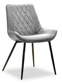 Krzesło tapicerowane ADEL - cowboy szary/czarny