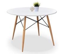 Stół okrągły z tworzywa FUSION 100 - biały