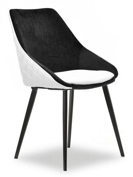 krzesła białe czarne tapicerowane