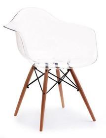 Krzesło kubełkowe MPA WOOD - transparentny/buk