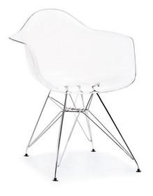 Krzesło ogrodowe MPA ROD - transparentny/chrom