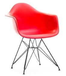 Krzesło ogrodowe MPA ROD - czerwony/metal