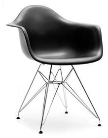 Krzesło ogrodowe MPA ROD - czarny/metal
