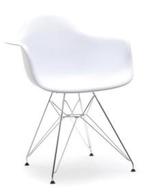 Krzesło ogrodowe MPA ROD - biały/metal