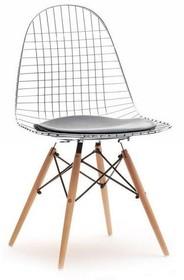 Krzesło metalowe MPC WIRE WOOD - chrom/buk