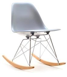 Krzesło bujane z tworzywa MPC ROC - szary