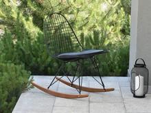 Krzesło bujane MPC WIRE ROC - czarny