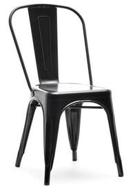 Krzesło metalowe ALFREDO 1 - czarny perłowy