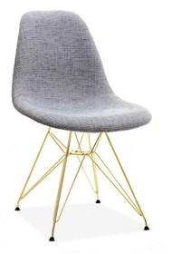 Krzesło tapicerowane MPC ROD TAP - szary szenil/złoty